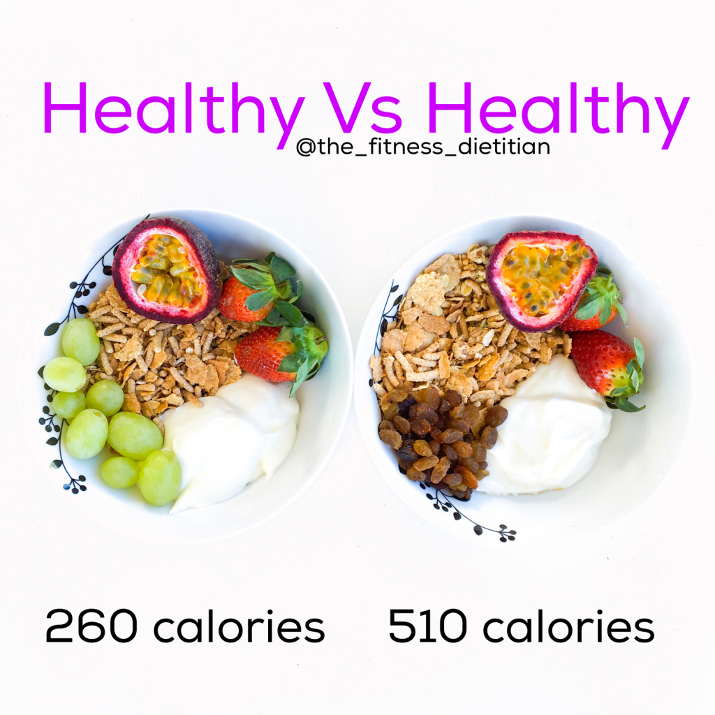 portion size comparisons dried vs fresh fruit calorie comparison