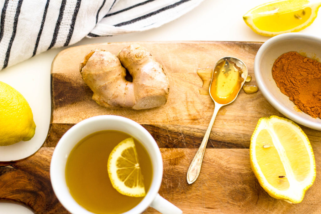Green tea for allergies lemon ginger turmeric honey