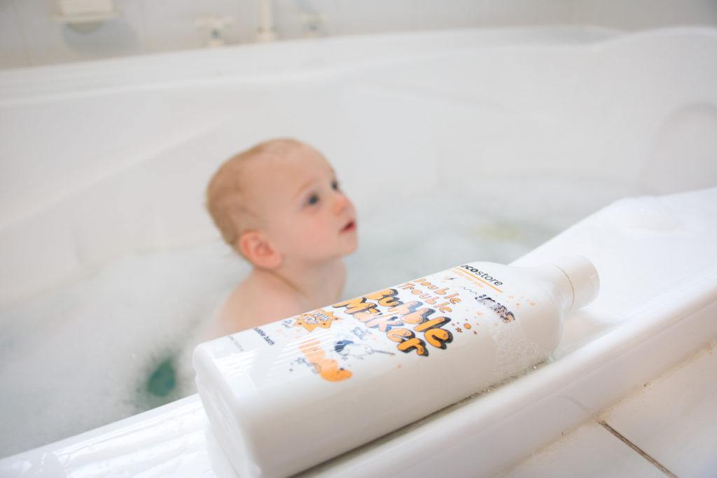simple bed time rituals for toddlers Finn ecostore bubble bath double trouble bubble maker