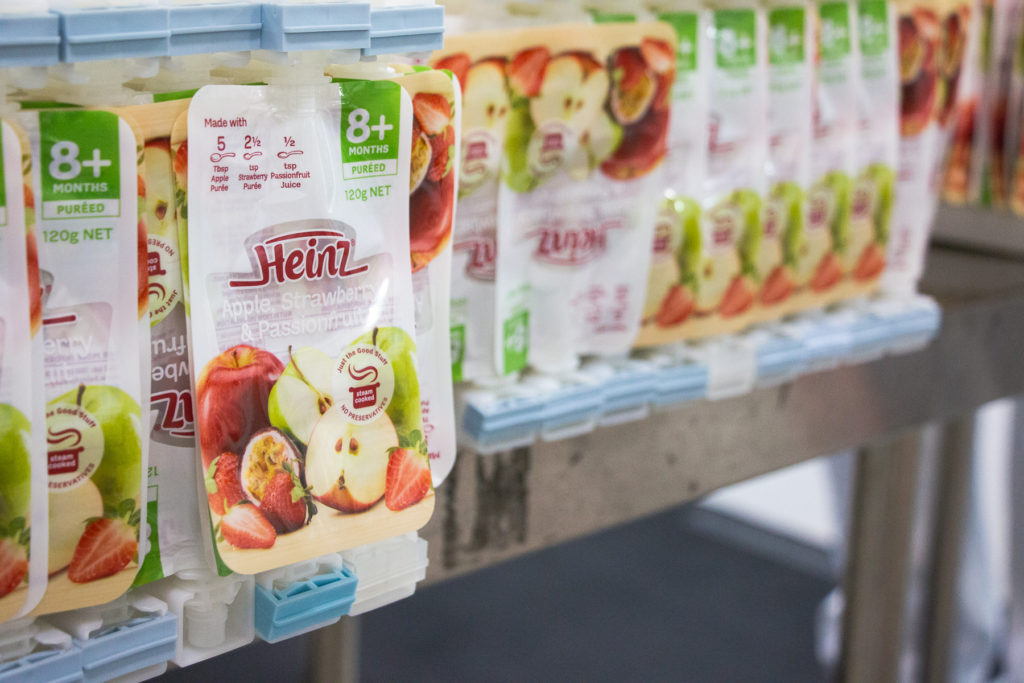 heinz infant food factory making baby food baby food pouches