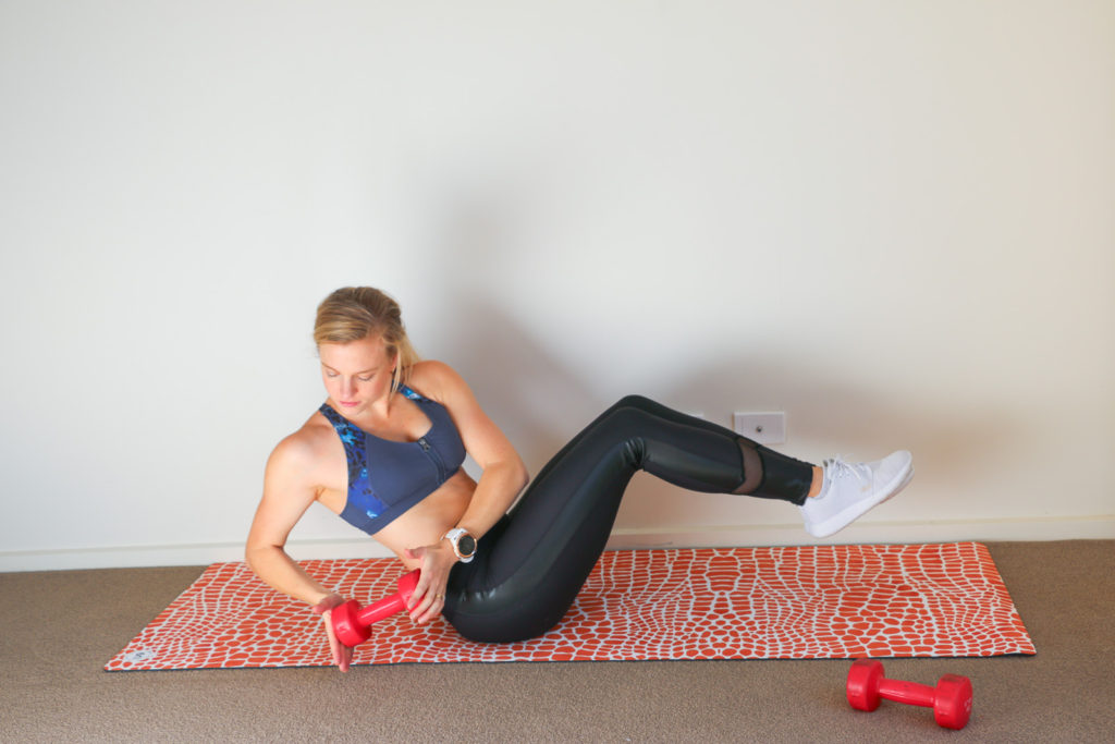 Inexpensive Ways to Workout at Home amy with dumbells crazy ivan exercise