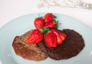 Banana Protein Pancakes (Chocolate and Vanilla Recipes)