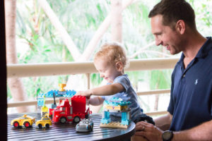 Father & Son bond through Play on Mid-Deployment Reunion + LEGO giveaway!