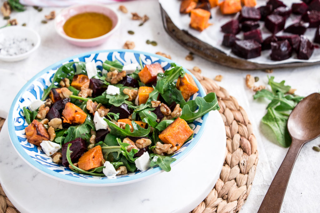 Roasted Beetroot, Pumpkin and Feta Salad recipe