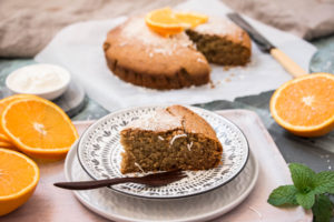 Almond & Blood Orange Tea- Infused Cake Photo Diary Free Gluten Free