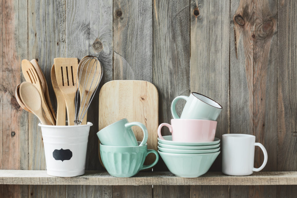 How to improve your wellbeing by bringing nature indoors - wooden cooking utensils and boards