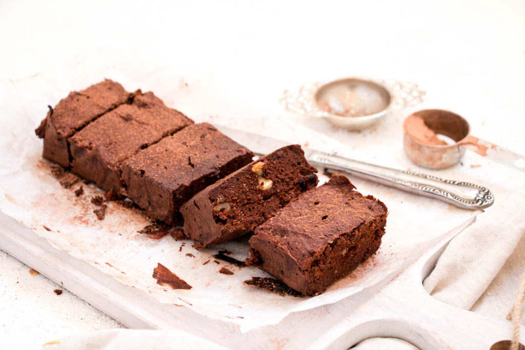 Healthy Banana Flour Brownies baked
