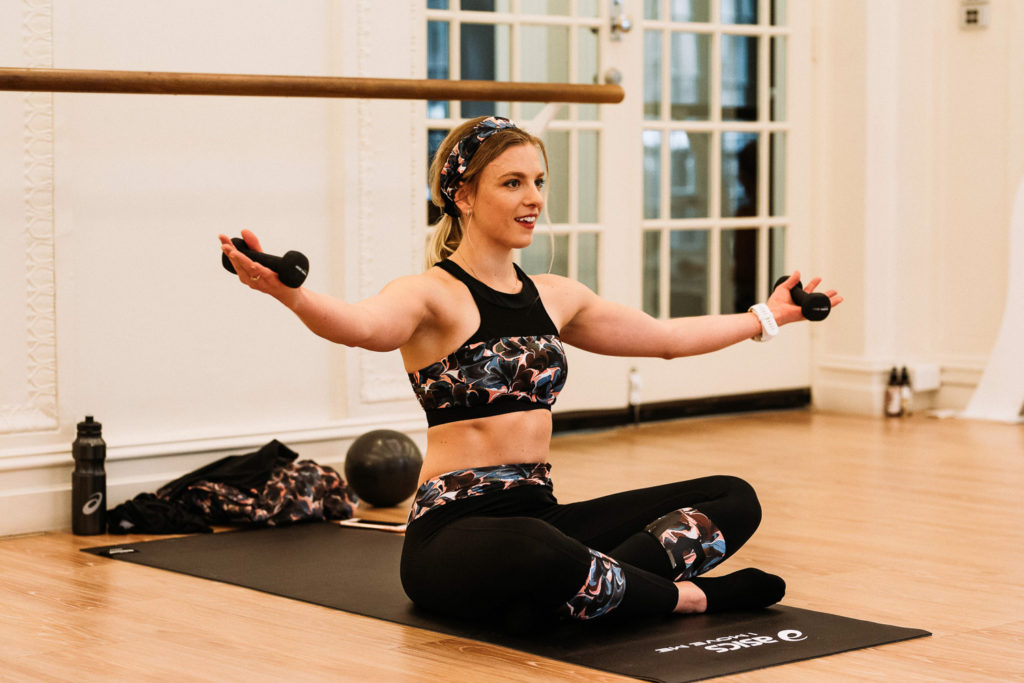 confidence to wear a crop top - amy darcy eat pray workout asics x liberty barre class
