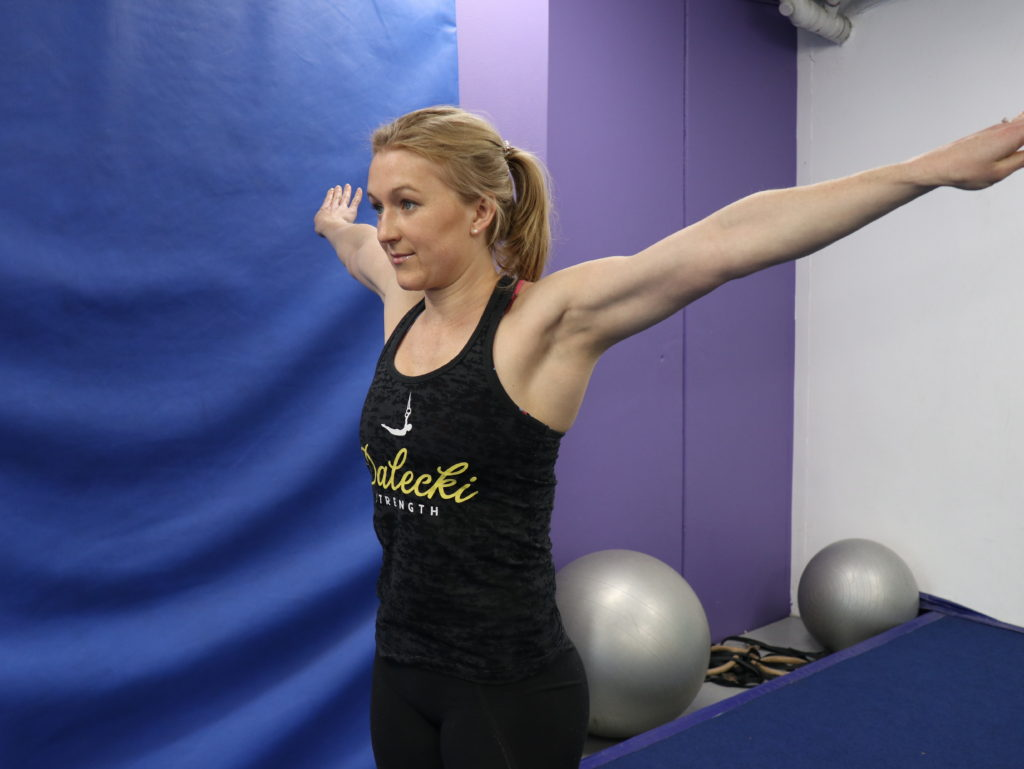 gymnastics joint prep shoulder circles Gymnastics Moves to Incorporate into your Training