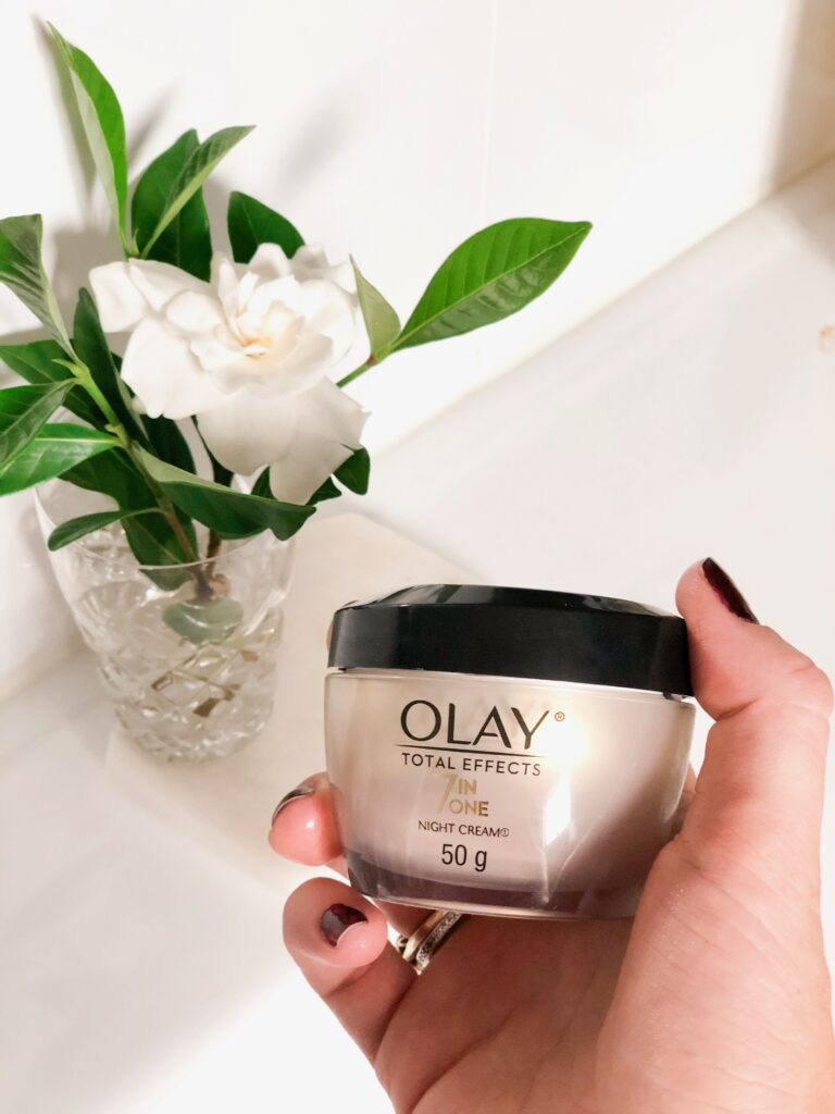 Six things you can do to improve the moisture in your skin - use a night moisturiser olay night cream