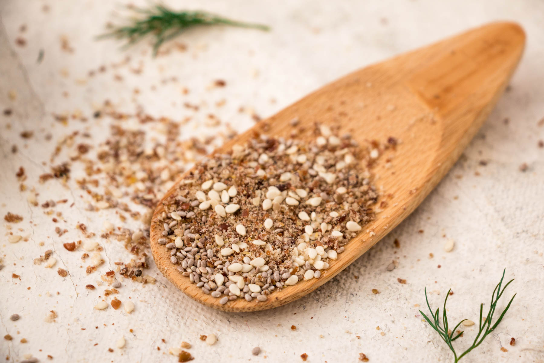 Nuts and seeds dressing - LSA, sesame seeds, chia seeds combine with macadamia oil