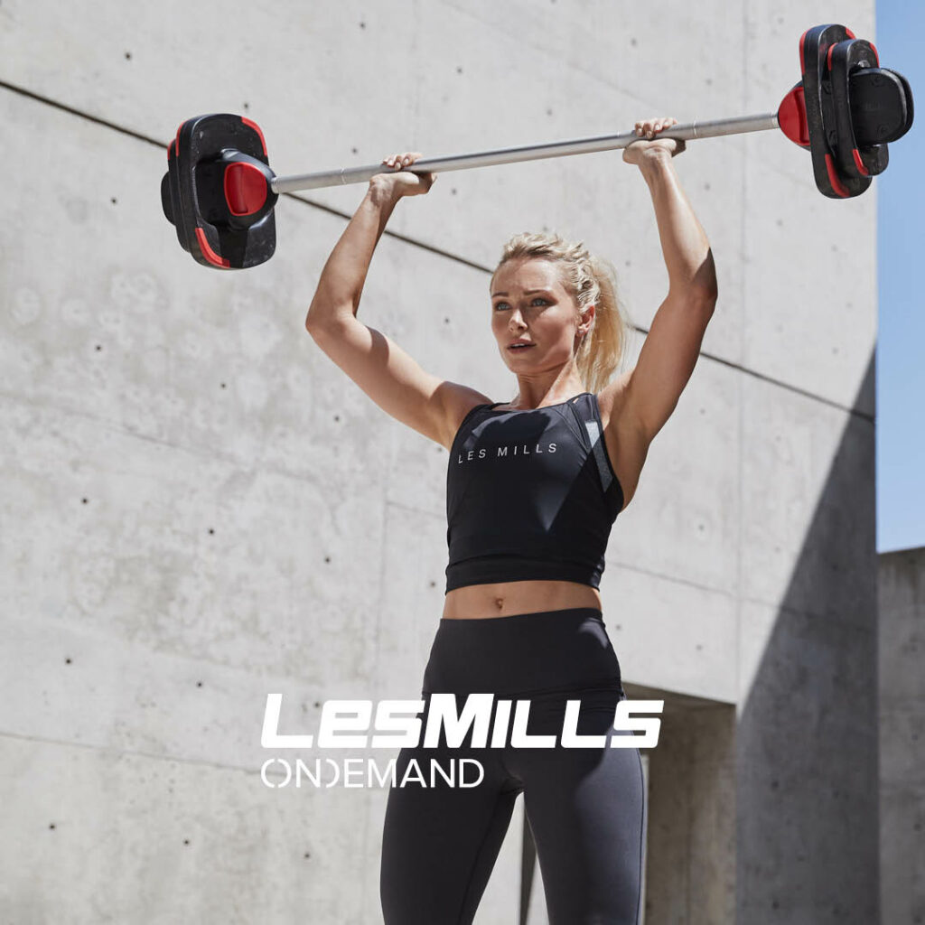 at home workout videos les mills body pump